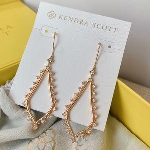 New Kendra Scott Rose Gold Bea Earrings